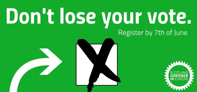 There's only 5 days left to register to vote. Tell your friends!      https://www.gov.uk/register-to-vote       #GreenerIN